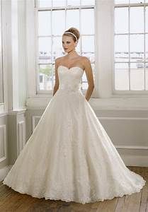 sweetheart strapless lace wedding dress with a line With strapless sweetheart wedding dresses