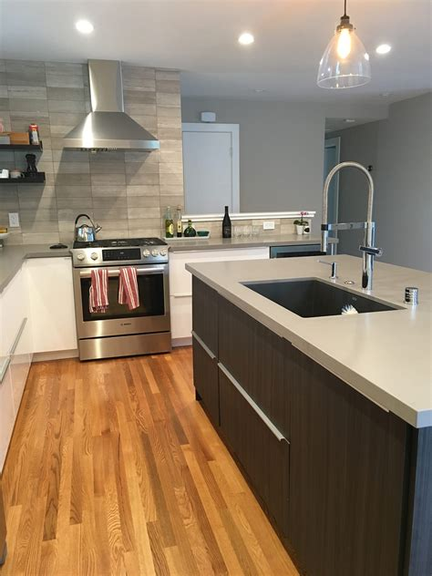 sophisticated  family friendly ikea kitchen design