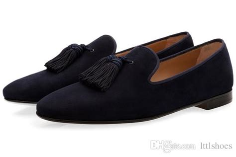 Luxury Suede Slippers Men Tassel Loafers Shoes Velour