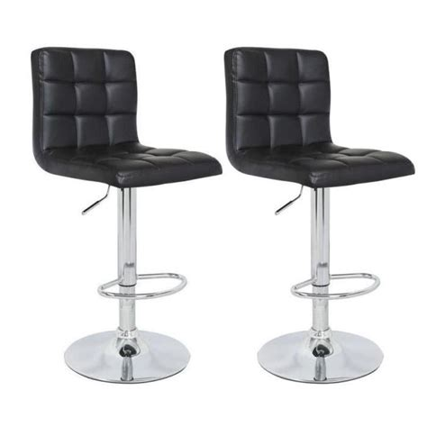 but tabourets de bar crunch lot de 2 tabourets de bar noirs achat vente tabouret polyur 233 thane cdiscount