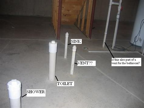 Basement Bathroom Roughin  Plumbing  Diy Home