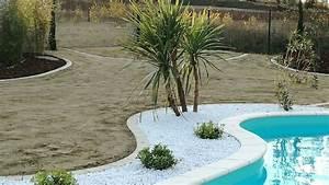 Les Jardins Du Sud : d cor min ral autour d 39 une piscine muret paysagiste ~ Melissatoandfro.com Idées de Décoration