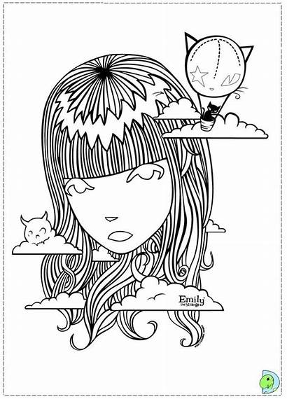 Coloring Pages Emily Strange Weird Dinokids Dark