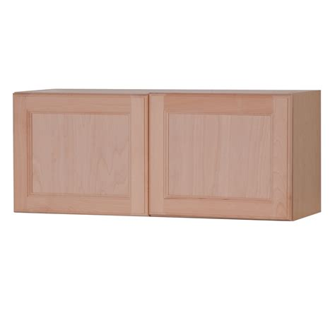 lowes unfinished wall cabinets shop style selections 36 in w x 15 in h x 12 6 in d