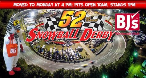 Starting Line Up and Home Towns For Monday's Snowball Derby
