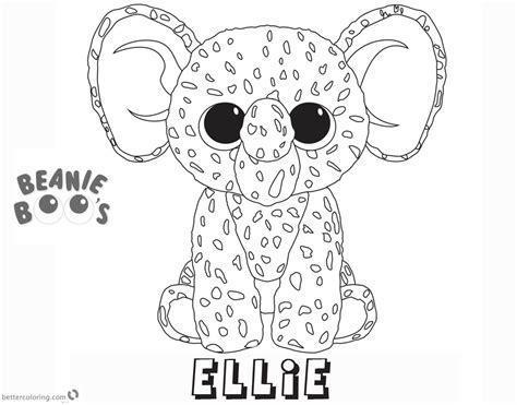 Ellie Kleurplaat by Beanie Boo Coloring Pages Ellie Free Printable Coloring