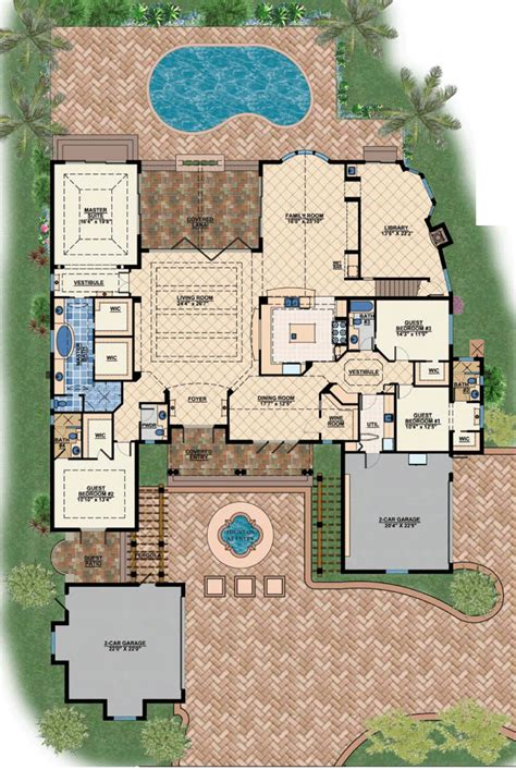 mediteranean house plans floor plan of coastal contemporary florida luxury