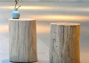 Table De Chevet Ronde : tronc d 39 arbre souche de bois forme table d 39 appoint ou chevet ~ Teatrodelosmanantiales.com Idées de Décoration