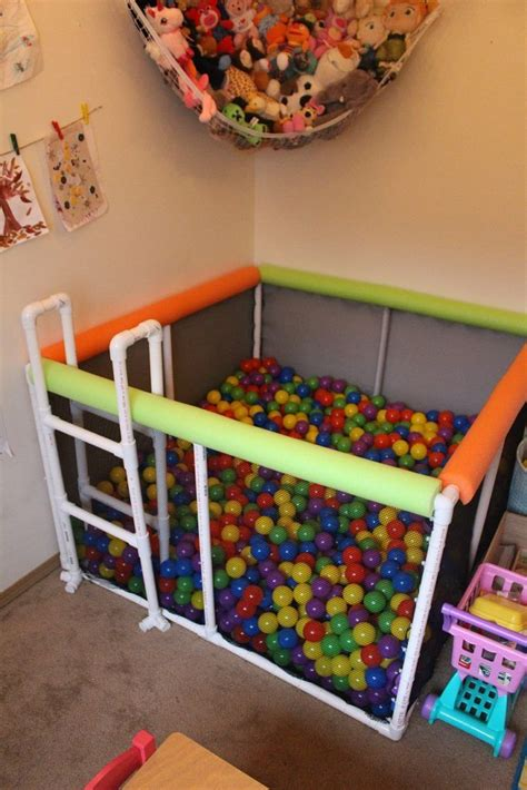 Diy Pvc Pipe Ball Pit  My Baby's Play Room  Pinterest