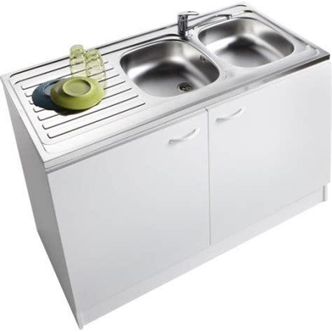 le cuisine sous meuble meuble de cuisine sous évier 2 portes blanc h86x l120x