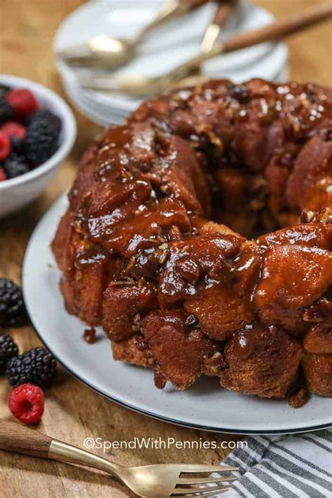 Monkey bread is a sweet and sticky pastry that is basically served for breakfast, but it also makes a great treat for a get together or a dinner party. My family can't get enough of this easy cinnamon Monkey Bread! With just a handful of ...