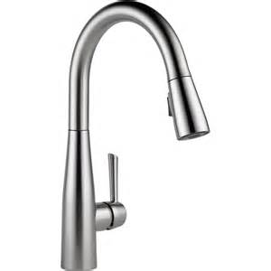 touch free kitchen faucet delta faucet 9113 ar dst essa arctic stainless pullout