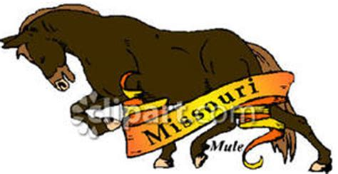 Cost Of Missouri Boating License by State Animal Of Missouri The Mule In A Prancing Form