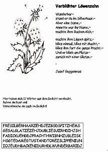 Gedicht Der Lattenzaun : schulmaterial arbeitsbl tter f r die unterstufe ~ Lizthompson.info Haus und Dekorationen