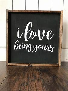 farmhouse style chalkboard quote i being yours with