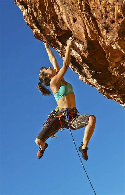 Rock Female Climber
