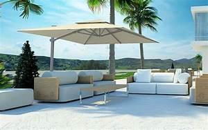 Grand Parasol Déporté : parasol d port solero laterna 300x300 cm ou 350 cm ~ Teatrodelosmanantiales.com Idées de Décoration