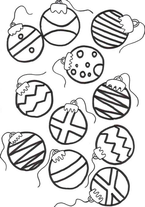 printable christmas baubles coloring sheet