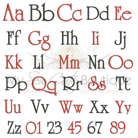 embroidery block letters font machine embroidery font