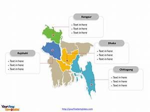 Free Bangladesh Editable Map