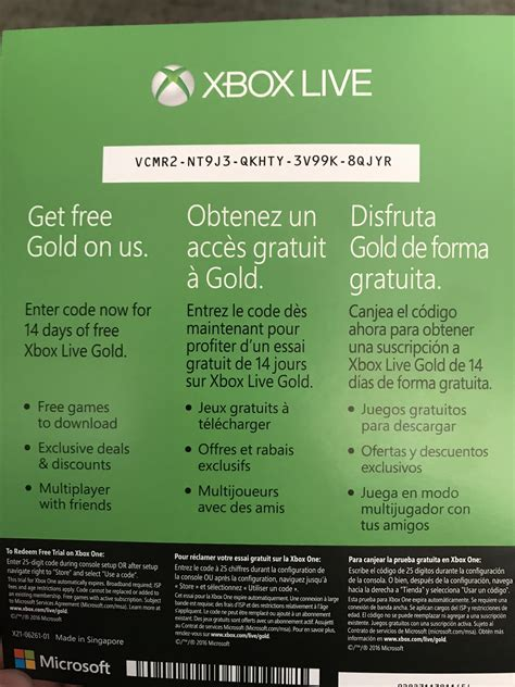 Xbox Live And Xbox Live Gold Xbox Live Gold 14 Day Trial Xbox