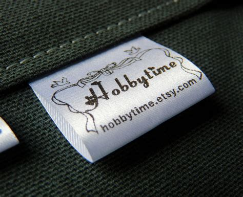 custom clothing labels   white satin labels