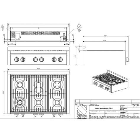 piani cottura appoggio piano cottura da appoggio steel cucine serie genesi 90 g9