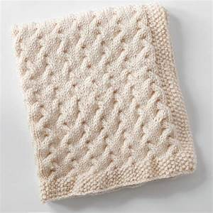Snuggly Cables Baby Blanket   AllFreeKnitting.com