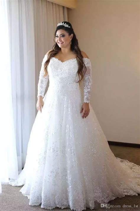 discount customized long sleeve  size wedding dresses