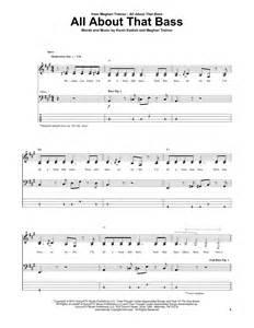 About All That Bass Sheet Music