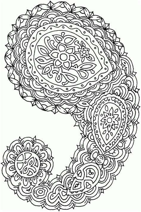Free Printable Paisley Coloring Pages For Adults