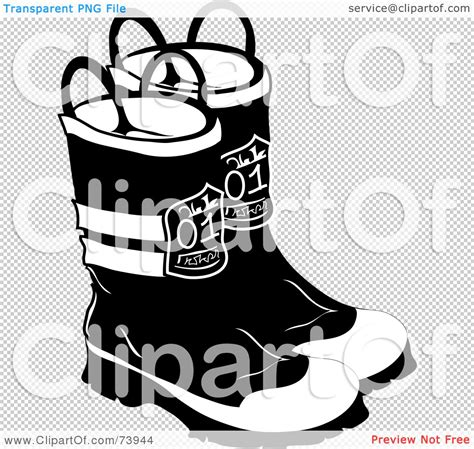 fireman boots clipart black and white royalty free rf clipart illustration of a pair of black