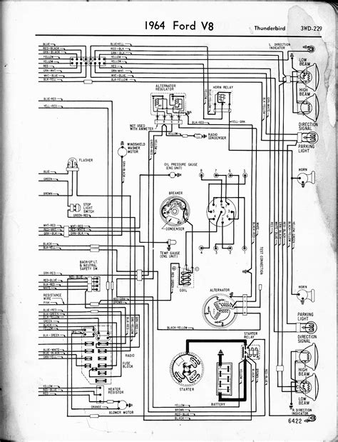 1960 Thunderbird Wiring Schematic by 57 65 Ford Wiring Diagrams