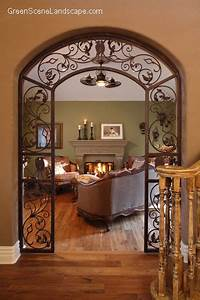 arched iron scroll doorway Dream Home Pinterest