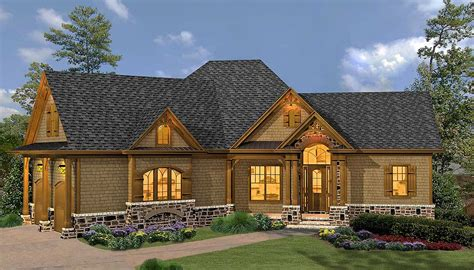 rustic hip roof  bed house plan ge architectural designs house plans