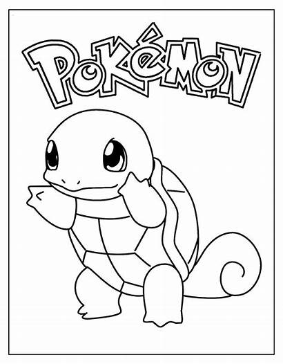 Squirtle Pokemon Coloring Pages Sheet Turtle Printable