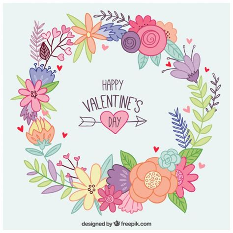 valentines floral wreath clipart clipground