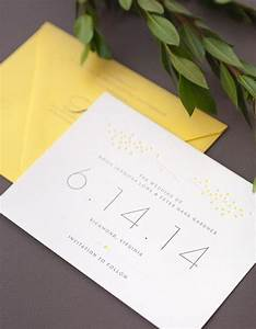 formal letterpress save the date with yellow dejlige With letterpress wedding invitations richmond va