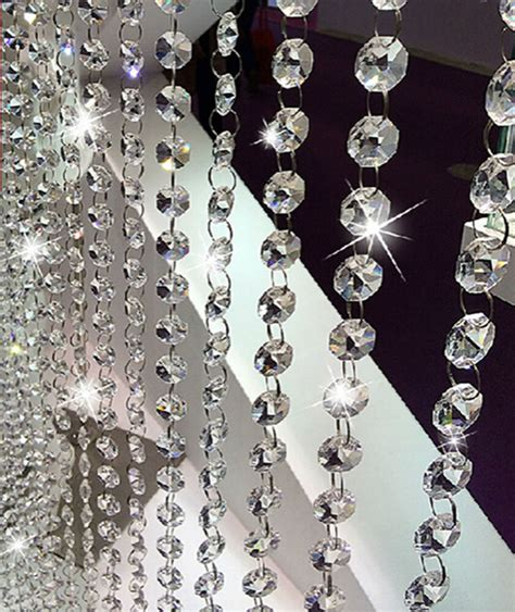Glass Chain Chandelier by 6 6ft Clear Glass Chandelier Beaded Chain Wedding