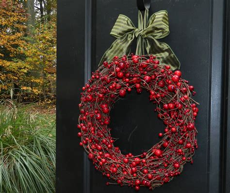 red berry valentine wreath holiday wreath cranberry wreath