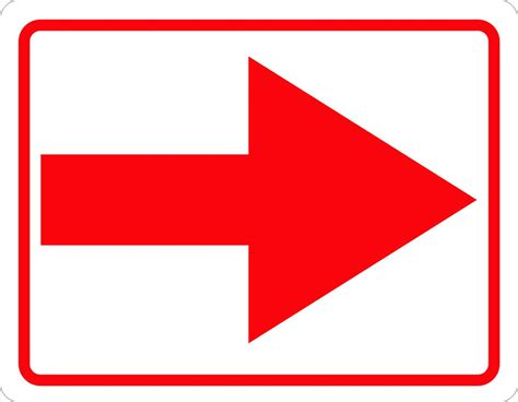 Directional Arrow Sign - Signs by SalaGraphics