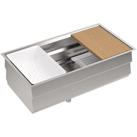 kohler kitchen sink accessories kohler k 5540 na prolific 33 undermount single bowl