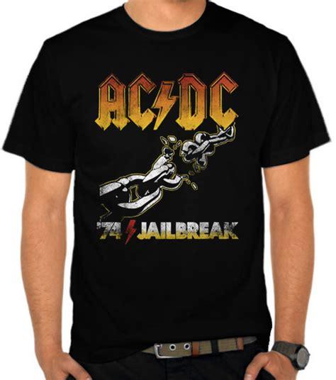 kaos musik band ac dc acdc jual kaos ac dc jailbreak vintage ac dc satubaju