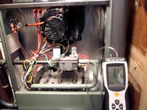 testing  adjusting gas pressure rheem  gas furnace