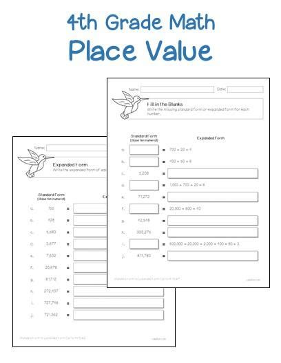worksheets on place value for grade 1 4th grade place value worksheets printables worksheets