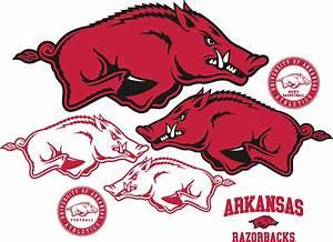 Brewster Wallpaper Arkansas Razorbacks Logo Fathead Jr