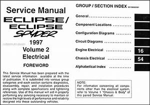 1997 Mitsubishi Eclipse  Eclipse Spyder Repair Shop Manual