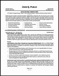 healthcare consultant resume sample the resume clinic With healthcare it resume