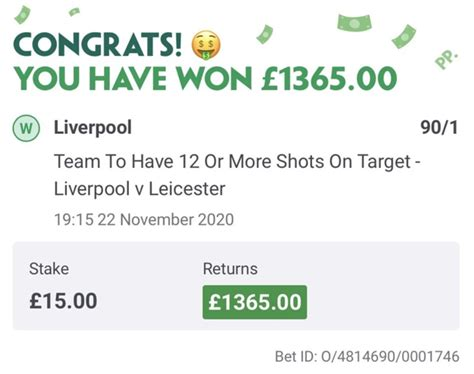 Punter wins big money on Liverpool vs Leicester with ...