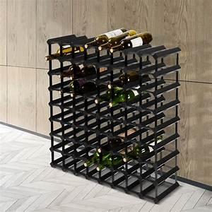 Artiss, 72, Bottle, Timber, Wine, Rack, Wooden, Storage, Wall, Racks, Holders, Cellar, Black